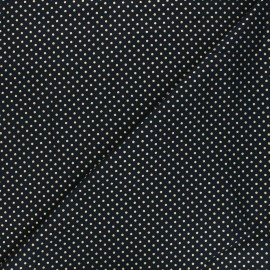 Cotton fabric - dark blue Golden maxi dots x 10cm