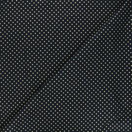 Tissu coton Golden maxi dots - bleu nuit x 10cm