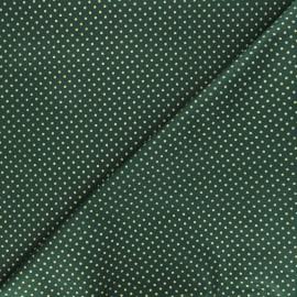 Cotton fabric - green Golden maxi dots x 10cm