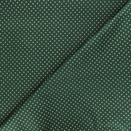 Tissu coton Golden maxi dots - vert x 10cm
