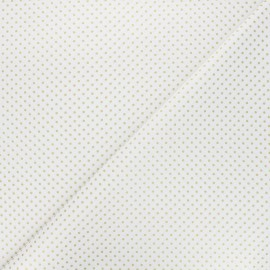Cotton fabric - white Golden maxi dots x 10cm