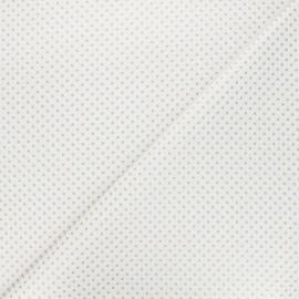 Tissu coton Golden maxi dots - blanc x 10cm