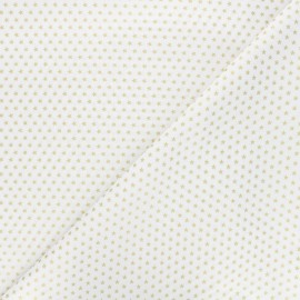 Cotton fabric - white Golden stars x 10cm