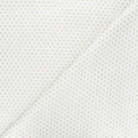 Tissu coton Golden stars - blanc x 10cm