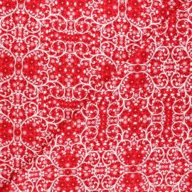 Tissu coton Dashwood Studio Starlit hollow red - Ornement rouge x 10cm