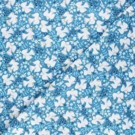 Cotton Dashwood Studio fabric - Starlit hollow blue - blue Birds x 10cm