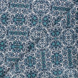 Cotton Dashwood Studio fabric - Starlit hollow blue - blue Ornement x 10cm