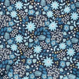 Cotton Dashwood Studio fabric - Starlit hollow blue - blue Flower x 10cm