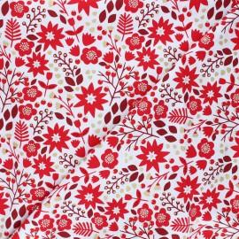 Cotton Dashwood Studio fabric - Starlit hollow red - red Flower x 10cm
