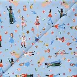 Rifle Paper Co. cotton fabric - Holiday Classics - blue Land of Sweets x 10cm