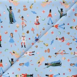 Tissu coton Rifle Paper Co. Holiday Classics - Land of Sweets - bleu poudré x 10cm