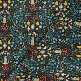 Rifle Paper Co. cotton fabric - Holiday Classics - green Partridge x 10cm