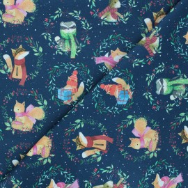 Tissu coton Dear Stella All spruced up - All spruced up - bleu nuit x 10cm