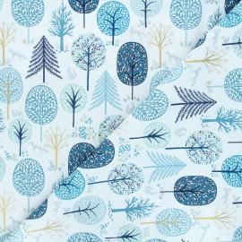 Tissu coton Dashwood Studio Starlit hollow blue - Trees bleu x 10cm