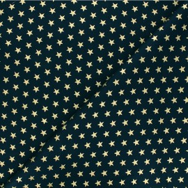 Cotton fabric - red Golden maxi stars x 10cm