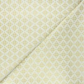 Tissu coton cretonne Esprit scandinave - crème x 10cm