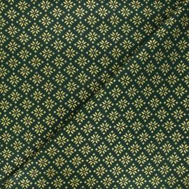 Cretonne cotton fabric - green Esprit scandinave x 10cm