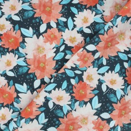 Dear Stella cotton fabric Baby it's cold outside - midnight blue Merry & bright x 10cm
