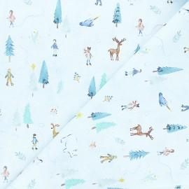 Dear Stella cotton fabric Baby it's cold outside - light blue Baby it's cold outside x 10cm