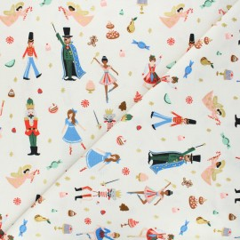 Rifle Paper Co. cotton fabric - Holiday Classics - cream Land of Sweets x 10cm