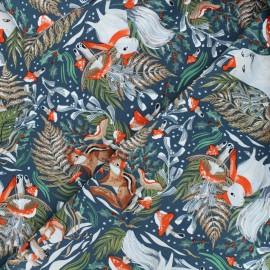 Dear Stella cotton fabric Frosty forage - midnight blue Frosty forage x 10cm