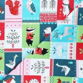 Cotton Dashwood Studio fabric - Forest friends - Animaux x 10cm