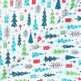 Cotton Dashwood Studio fabric - Forest friends - Sapins x 10cm