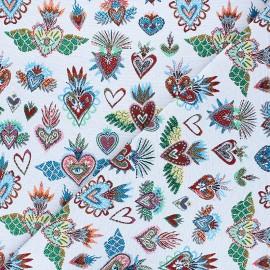 Jacquard fabric - pearl grey Corazon x 10cm