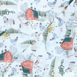 Tissu coton Dear Stella Poppy Prairie - Poppy Prairie - blanc x 10cm