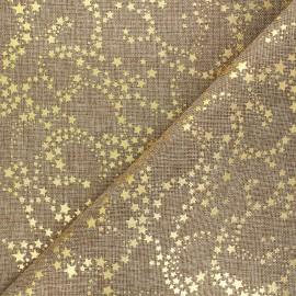 Burlap aspect fabric - golden/natural Constellation x 10cm
