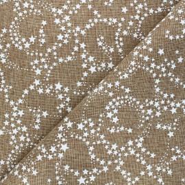 Burlap aspect fabric - white/natural Constellation x 10cm