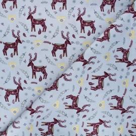 Tissu coton Forêt enchantée - gris clair x 10cm