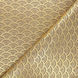 Burlap aspect fabric - golden/natural Sushi x 10cm