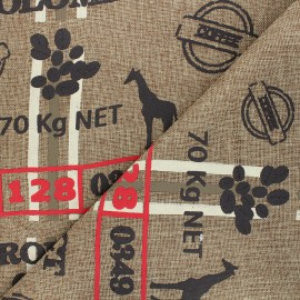 Burlap aspect fabric - natural Café x 10cm