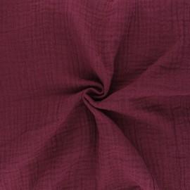 Plain Double gauze fabric - Purple x 10cm
