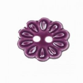 Bouton Fleur mauve