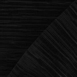 Pleated Fabric - Black x 10cm