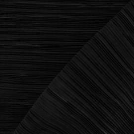 Tissu plissé noir x 10cm