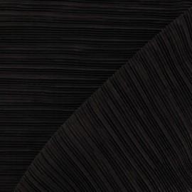 Tissu plissé marron x 10cm