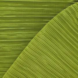 Tissu plissé vert mousse x 10cm