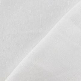 Tissu Damassé Royal blanc x 10cm