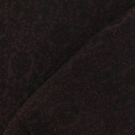 Tissu Damassé Royal marron x 10cm