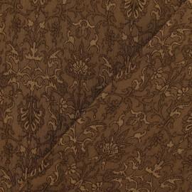 Tissu Damassé Royal châtain x 10cm