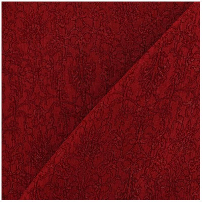 tissu damass royal rouge carmin x 10cm ma petite mercerie. Black Bedroom Furniture Sets. Home Design Ideas