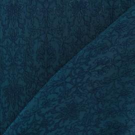 Tissu Damassé Royal canard x 10cm