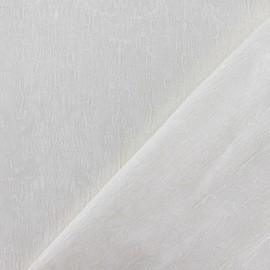 Tissu Doublure Jacquard Royal écru x 10cm
