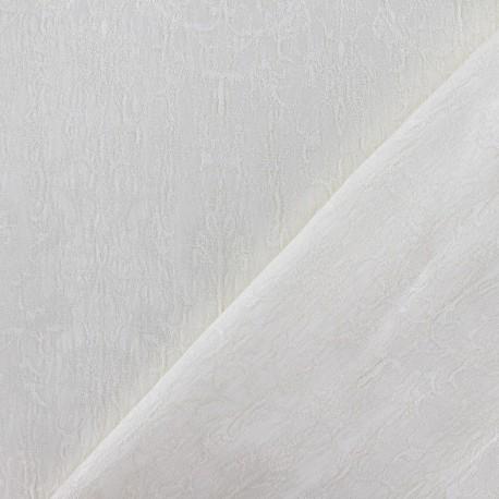 Tissu Damassé Royal écru x 10cm