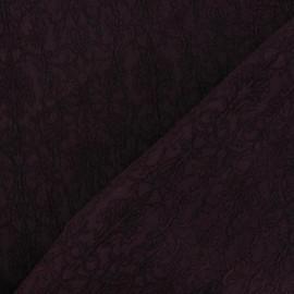 Tissu Doublure Jacquard Royal encre violette x 10cm