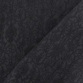 Tissu Damassé Royal gris x 10cm