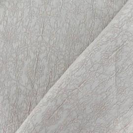 Tissu Damassé Royal beige x 10cm